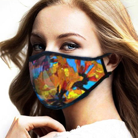 WOMEN'S FACE MASK 01 A - IN THE GARDEN (SET OF 4)