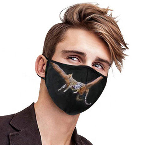 MEN'S FACE MASK 01 A - IN THE JUNGLE (SET OF 4)