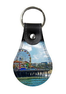 LEATHER KEY FOB 04 - AROUND LA / SANTA MONICA PIER