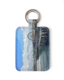 LEATHER KEY FOB (RECTANGULAR SHAPED) 01 - AROUND LA / SANTA MONICA PIER