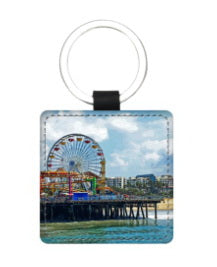 LEATHER KEY FOB (SQUARE) 03 AROUND LA / SANTA MONICA PIER