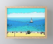FRAMED ART 01 - AT THE BEACH (Frame: Conservation / Natural)