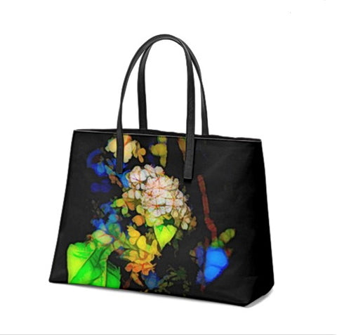 WOMEN'S NAPPA LEATHER TOTE 01 - IN THE GARDEN
