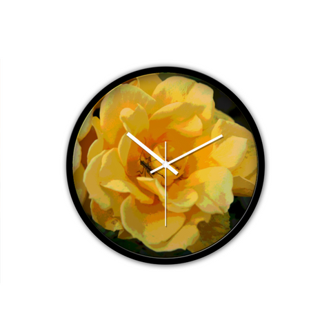 WALL CLOCK / ROUND 02 (B)  - IN THE GARDEN