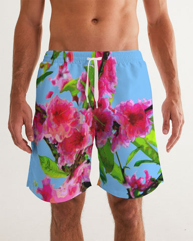 MEN'S SWIMWEAR 01 / IN THE GARDEN / PEACH BLOSSOMS