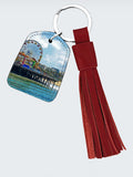 LEATHER KEY FOB WITH TASSEL 05 - AROUND LA / SANTA MONICA PIER