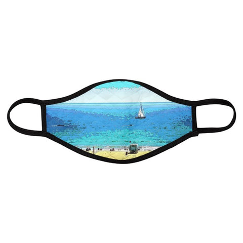 MEN'S FACE MASK 01 D - AT THE BEACH (SET OF 4)
