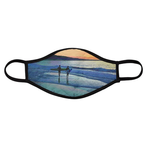 MEN'S FACE MASK 01 C - AT THE WATER'S EDGE (SET OF 4)