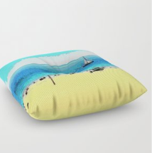 FLOOR PILLOW 01 - AT THE BEACH