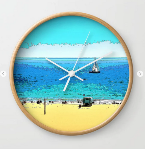 WALL CLOCK / ROUND 05 - AT THE BEACH