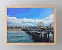 FRAMED MINI ART PRINT 02 - AROUND LA / SANTA MONICA PIER