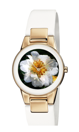 WOMEN'S WATCH (CITIZEN) WITH WHITE BAND 01 - IN THE GARDEN