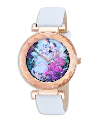 WOMEN'S WATCH (PULSAR) WITH WHITE BAND 01 - IN THE GARDEN