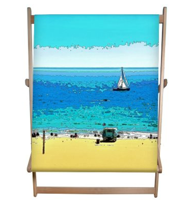 DECK CHAIR (DOUBLE) / WOOD FRAME 01 - AT THE BEACH