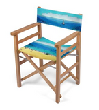 DECK DIRECTOR'S CHAIR (FOLDING) / WOOD FRAME 01 - AT THE BEACH