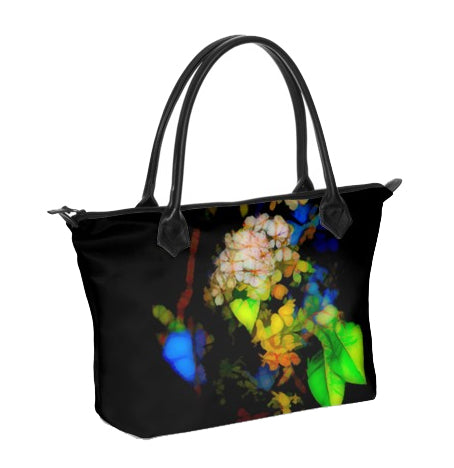 WOMEN'S ZIP TOP TOTE BAG 01 - IN THE GARDEN