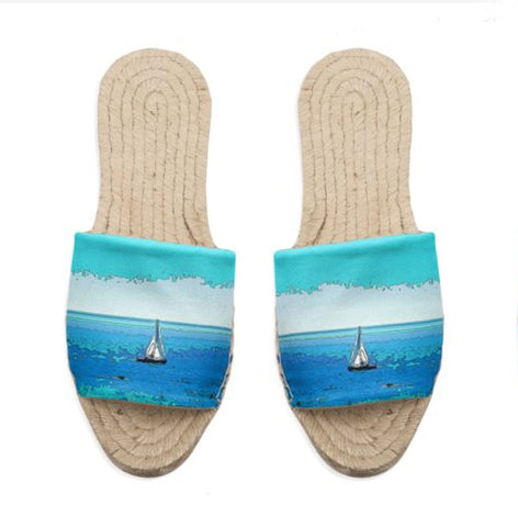 WOMEN'S ESPADRILLES 01 / MULES - AT THE BEACH
