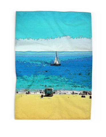 TEA TOWEL 01 - AT THE BEACH