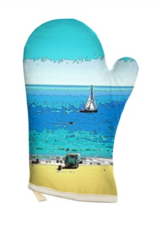 OVEN GLOVES 01 - AT THE BEACH