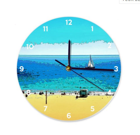 WALL CLOCK / ROUND 01 - AT THE BEACH