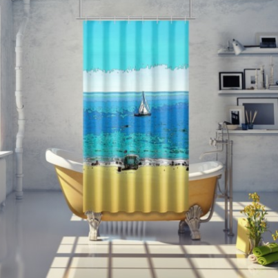 SHOWER CURTAIN 01 - AT THE BEACH