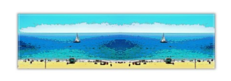 TABLE RUNNER 01 - AT THE BEACH