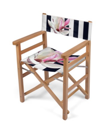 DECK DIRECTOR'S CHAIR (FOLDING) / WOOD FRAME 02 - IN THE GARDEN