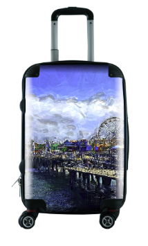 "LUGGAGE (24"" MEDIUM)  02 - AROUND LA / SANTA MONICA PIER"