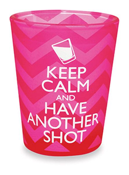 VELVET SHOT GLASS - KEEP CALM & HAVE ANOTHER SHOT