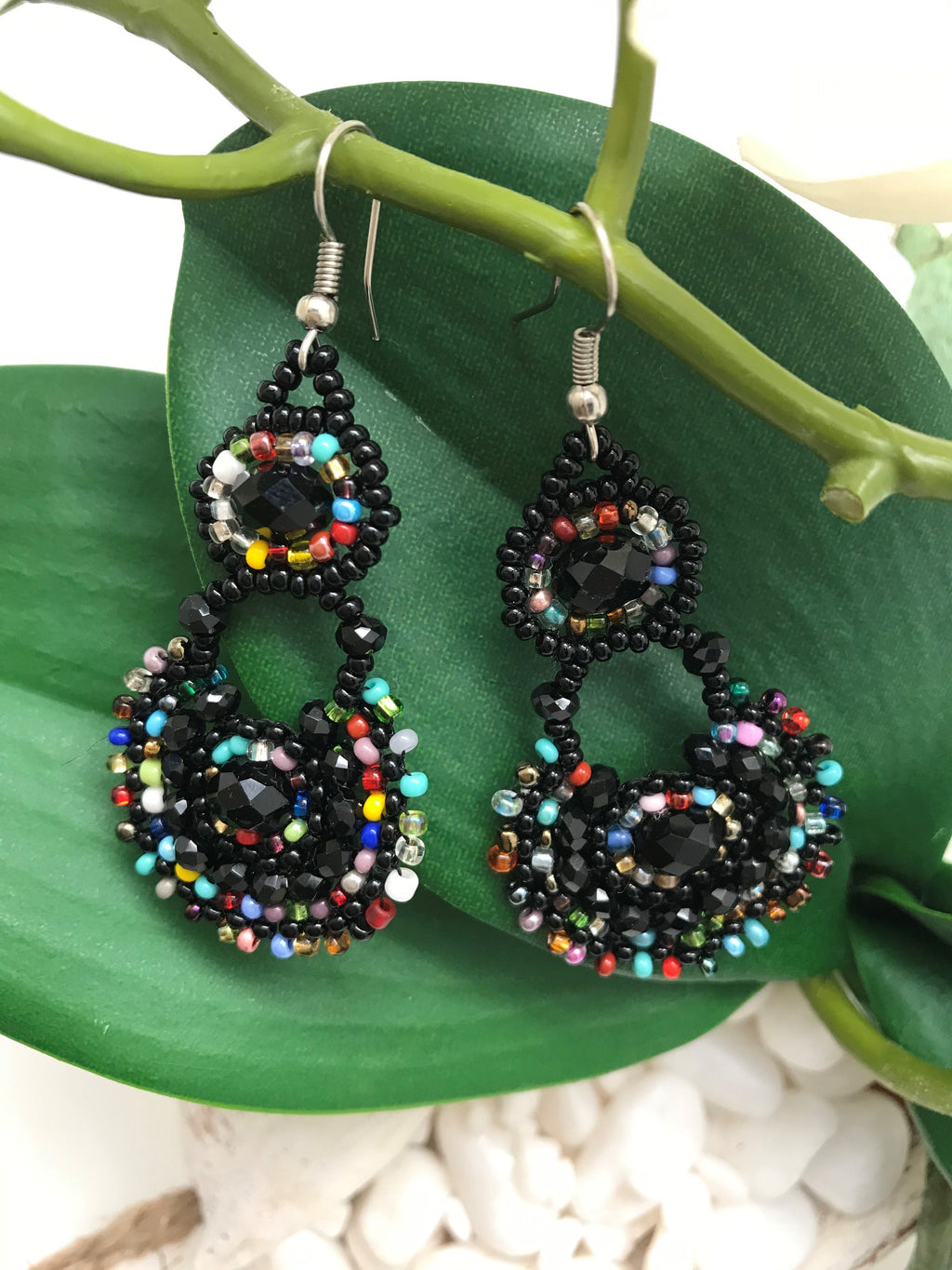 Colorful hand made earrings