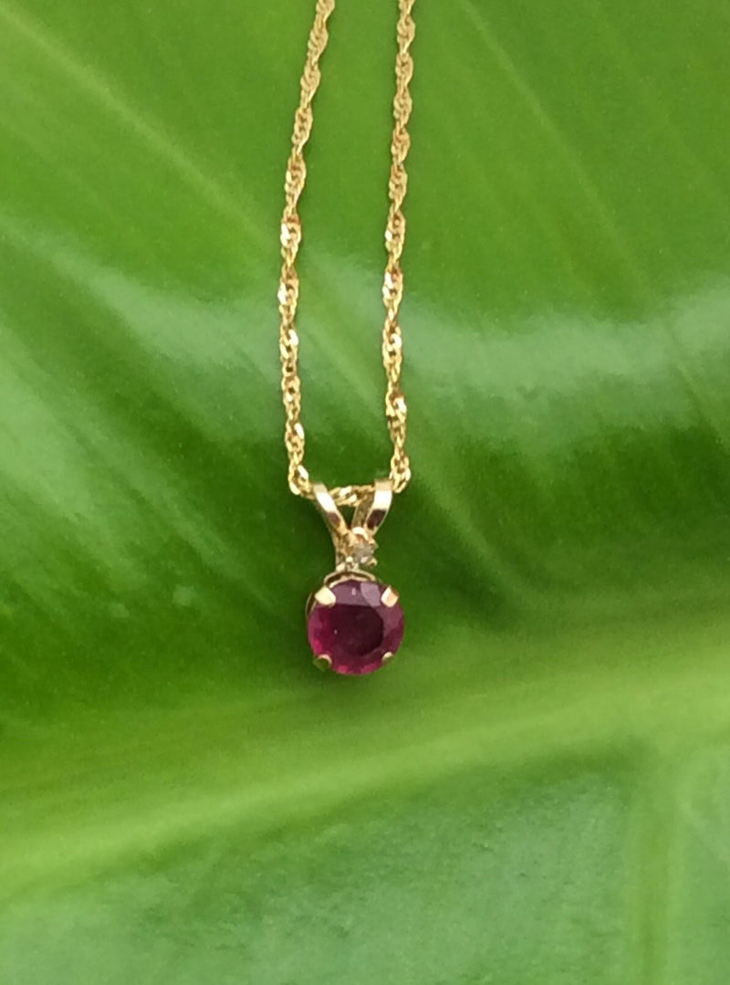 Gold and Birthstone Pendant