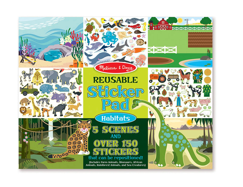 Reusable Sticker Pad - Habitats