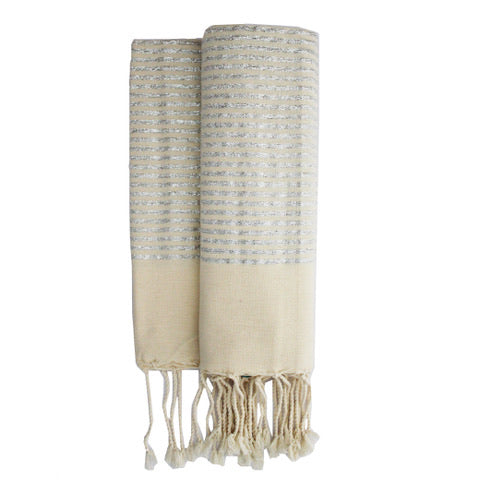 Silver stripes fouta