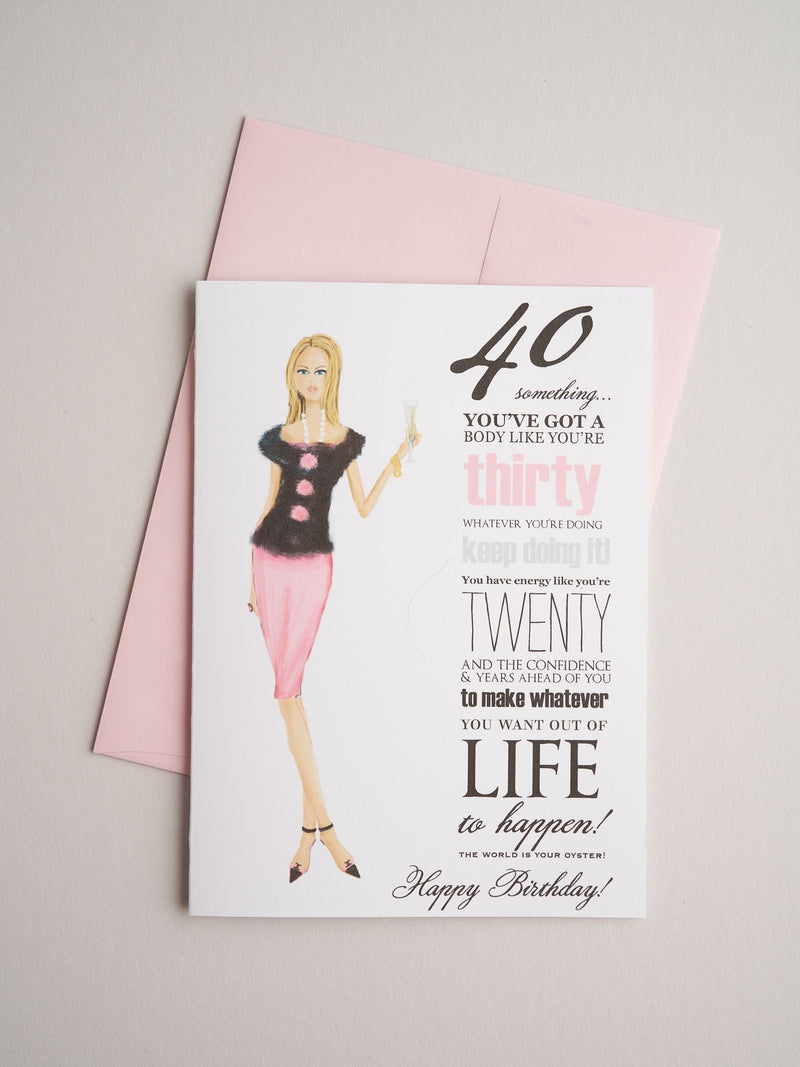 40 something birthday card