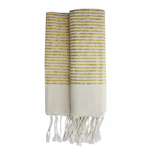 Gold stripes fouta
