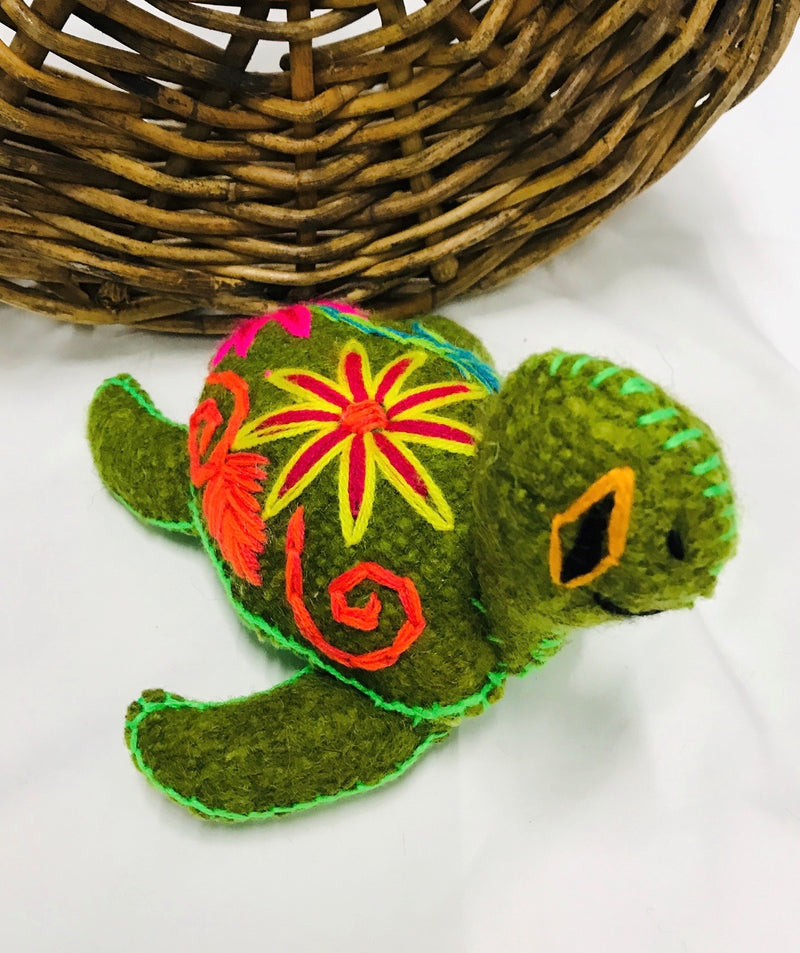 Wool heartmade turtle
