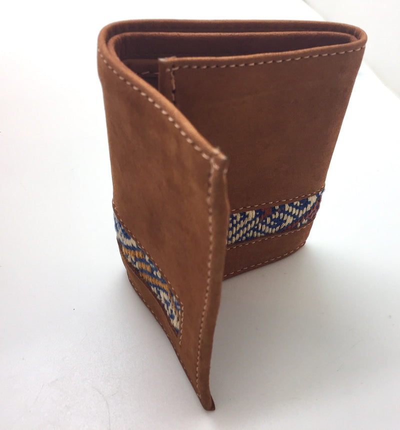 Hand embroidered wallet
