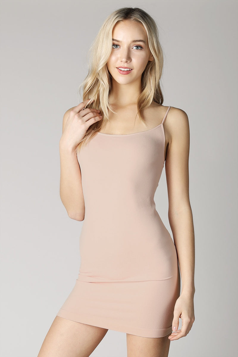 BEIGE CAMISOLE DRESS SLIP