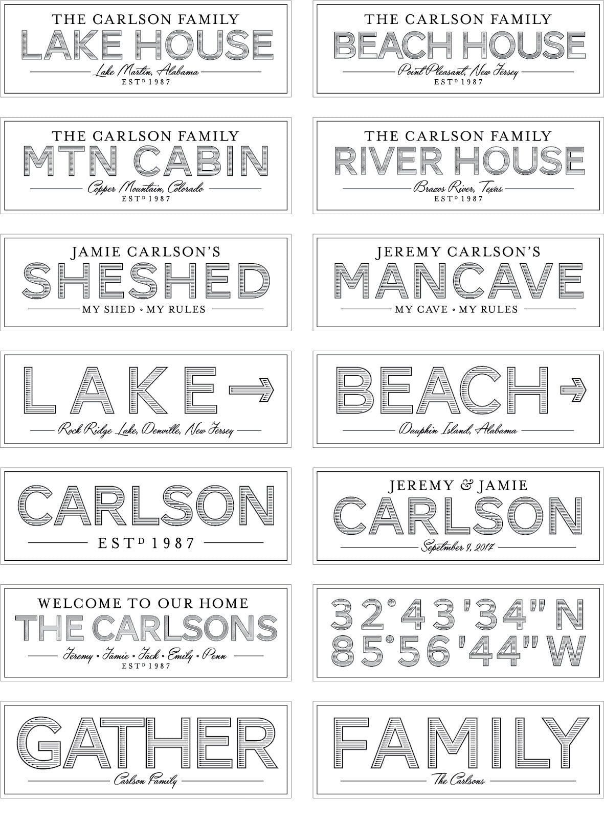Personalized Canvas Signs
