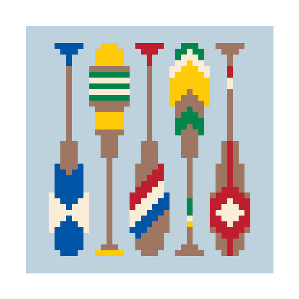 Cahaba River Paddles Needlepoint