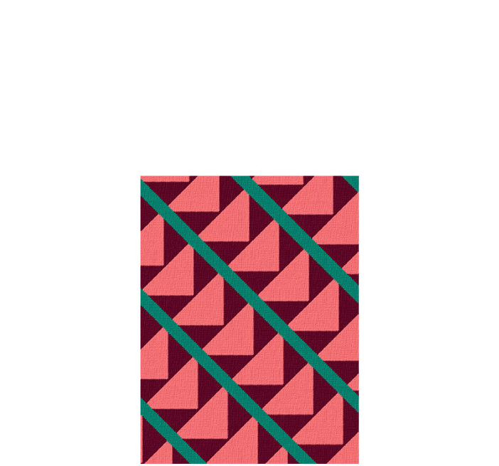 30x40 inch eco-cotton knit blanket with bold geometric pattern and stripes in custom colors