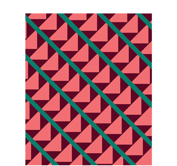 50x60 inch eco-cotton knit blanket with bold geometric pattern and stripes in custom colors