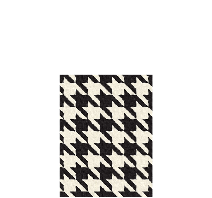 30x40 inch eco-cotton knit blanket with houndstooth pattern in custom colors