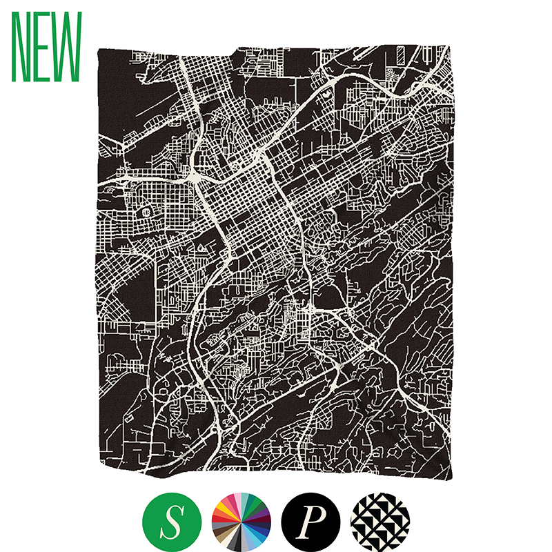 cityscape map blanket