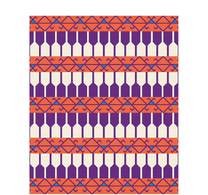 50x60 inch eco-cotton knit blanket with bold geometric pattern featuring cats and wine from @farmbliss in custom colors
