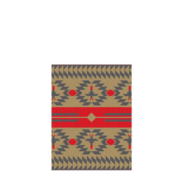 30x40 inch eco-cotton knit blanket with a native american blanket pattern in custom colors