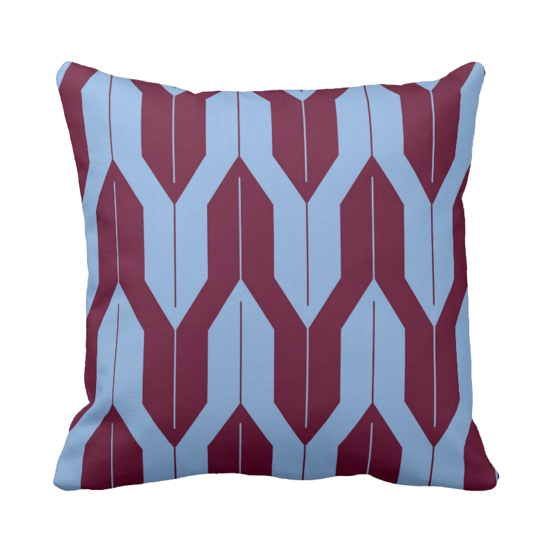 20 inch Shell Pattern pillow in custom colors for indoor/outdoor use