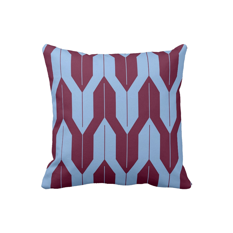 16 inch Shell Pattern pillow in custom colors for indoor/outdoor use