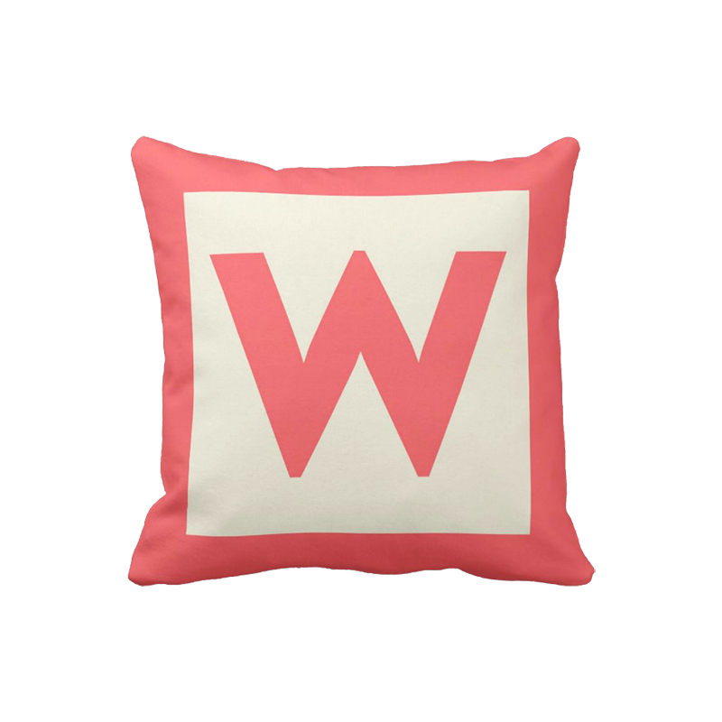 16 inch Letter Block Monogram pillow in custom colors for indoor/outdoor use
