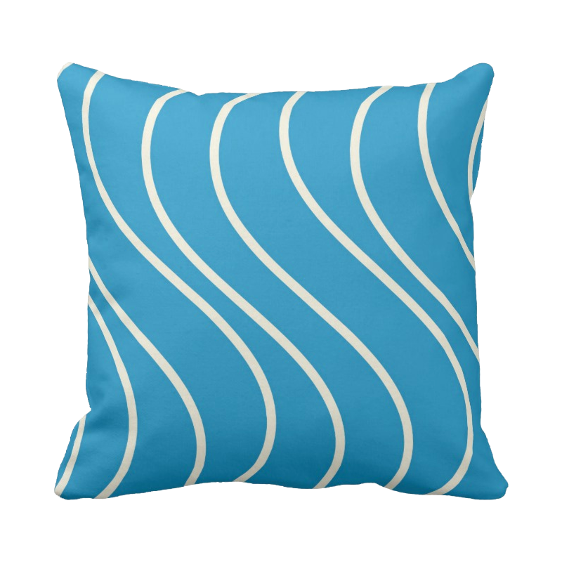 20 inch Wave pattern pillow in custom colors for indoor/outdoor use